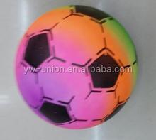 New Design Inflatable sports pu soft rainbow soccer football ball Ball