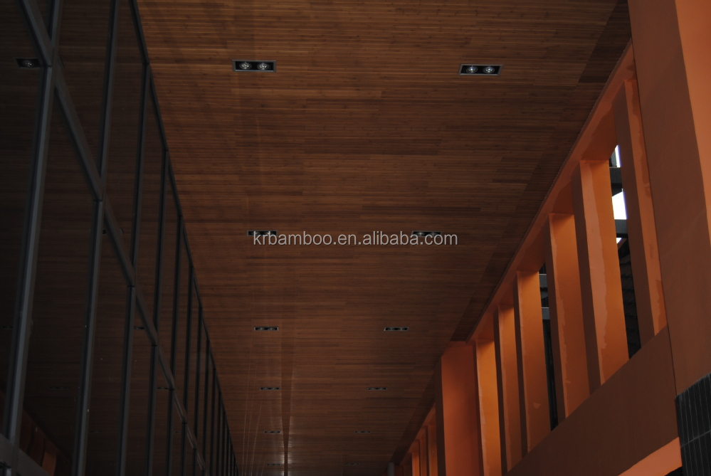 Bamboo ceiling tiles