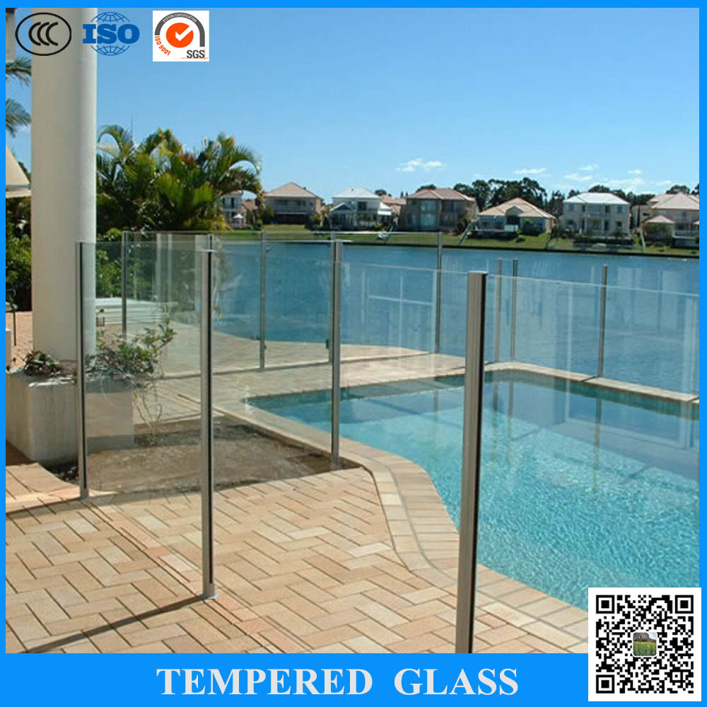 10mm 12mm decorative clear small tempered glass fence for Decorative tempered glass panels