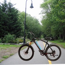 So easy to take! New electric folding bicycle, electric mountain bike, electric folding bike