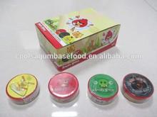 yummy goma de mascar con angry bird bonito 3d etiqueta