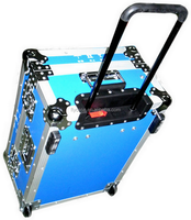 Aluminum black carrying top quality hard tool trolley case with foam inside at an affordable price