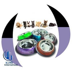 Anti Skid Colored Pet Bowls / super model dog bowl