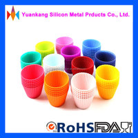 Colorful Eco-friendly silicone cake mould silicone cupcake baking muffin mould in hot sale