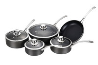 9pcs high quality hard anodized aluminum cookware sets/carbon steel chinese cooking sets