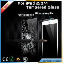 2015 New Product for iPad 2 3 4 Tempered Glass Screen Protector 2.5D Round Edge 9H Hardness