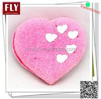 Valentine's pink heart shaped marshmallow cake