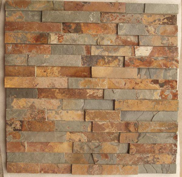 Piedra de la cultura de piedra decorativa para las paredes for Plaquetas decorativas para exterior