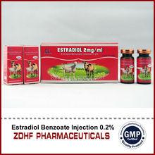 Cattle Camel Sheep Hormons Oem 10ml Estradiol Benzoate Injection
