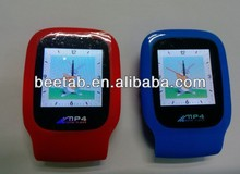 high quality wristband MP3 pedometer with Clock function