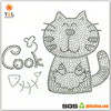 Fashion Fish Iron On Crystal Black Rhinestone Transfer Cat Hot Fix Motif