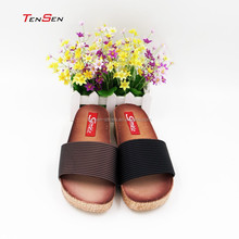 simple casual comfortable all match mid high heel one band slipper PVC blowing slipper