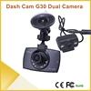 G30 dual cam car dashboard camera night visiont camera, dual camera