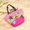 Handmade beautiful wholesale straw beach bag ,women fashion holiday vocation straw handbag