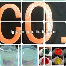 Impresión de tinta de silicona fabricantes fluorescente tinta para la impresión textil chemics