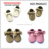 soft leather baby shoes crib moccasins MOQ 50pairs baby shoes