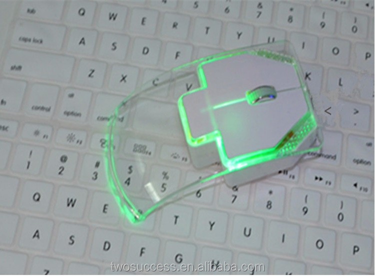 Promotion gift Light Up Computer Wireless transparent Mouse.jpg