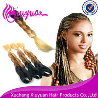 100% Synthetic Toyokalon Fiber Hair Two tone Ombre Marley Fake twist Braid