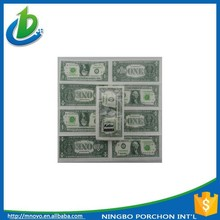 3 ply US dollar printed pocket recycled tissue paper