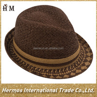 2015 latest wholesale straw hat paper fedora hat suppliers