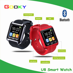 Cheap Christmas gifts!! 1.54 Inch smart watch u8 bluetooth smart watch phone