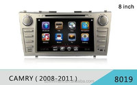 Popular 8'' in-dash 2 din car radio DJ8019 with GPS 1080P HD disc play external 3G etc.features for Toyota camry