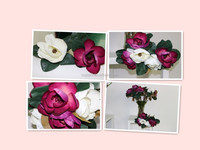 artificial single big head magnolia flowers imported from china