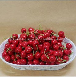 High artificial model of false fruit fruits and vegetables, cherries, bubble double d fake cherry photography props/simulation