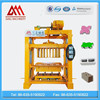 QTJ4-40 low investment small scale brick making machines cement hollow paver block machinery to make big money