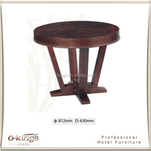 elegant and nice solid wood round side table, modern coffee table