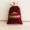 cheap red velvet christmas gift bag wholesales