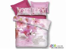 swan print 3D Bed linen unique luxury Duvet cover set wedding bedding set