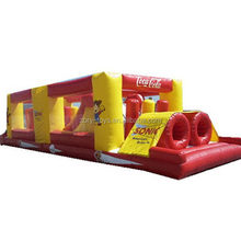 Top quality new arrival inflatable palm tree obstacle course