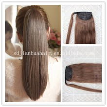 High ponytail lace front wigs 80g any colors,100% remy human human hair clip on ponytail
