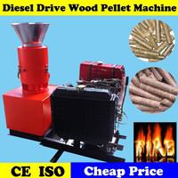 Rice Husk Straw Biomass Wood Pellet Mill with Diesel Engine