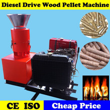 Rice Husk Straw Biomass Wood Pellet Mill with Diesel Engine
