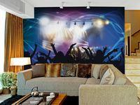 wholesale club luxurious Eco-friendy 3d huge mural club dancing papel de parede bedroom living room sofa tv wallpaper murals