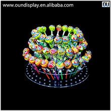 single column acrylic round lollipop display cake pop lollipop display stand