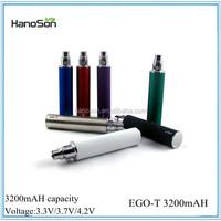 Variable Voltage Max 3200mAH ego-t battery 3.3-4.2V voltage EGO-T 3200mAH for e-cig