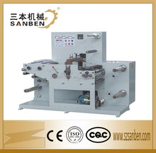 (SBM-320Y) automatic blank label rotary die cutting & slitting machine, paper roll die cutter with air rewinding shaft & counter