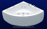 2015 new design best cheap acrylic fiberglass massage bathtub