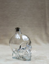 26oz crystal human skeleton glass strong drink bottle Stainless steel cap wholesale