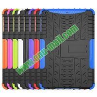 2 in 1 Pattern Anti Skid Texture Hybrid Case for iPad Mini 3 with Kickstand
