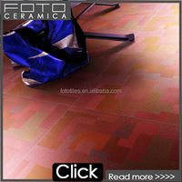 Red metallic glazed porcelain metal frame for tile living room flooring