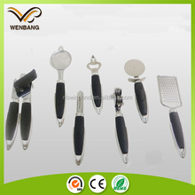 7pcs stainless steel kitchen gadget cheese knife, peeler, can opener, holder, grater