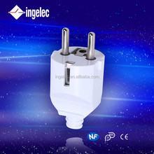 YiWu No.1 general eu and french standard plugs electrical 2 brass pin insert ingelec brand plug adapter