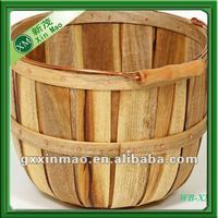 wholesale natural wooden basket with handles