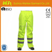 high quality fluo yellow reflective working trousers men pants cotton fabric workwear clothing wholesale working pants