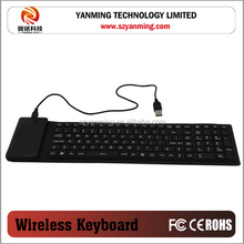 Best Quality Flexible Rolling colorful silicone keyboard for tablet