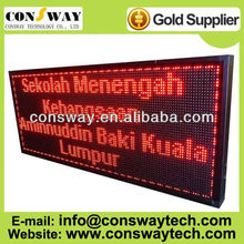 CE and RoHS approved advertising led display outdoor, size 56*136cm and red color